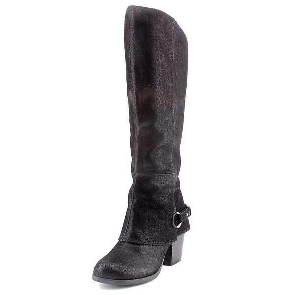 Fergalicious Lexy Women Round Toe Canvas Black Knee High Boot