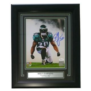 Brian Dawkins Signed & Framed Philadelphia Eagles 8x10 Photo JSA