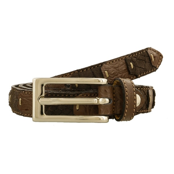 Renato Balestra LUCA MARRONE Brown Leather Mens Belt-38.5in - 38.5