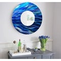 Statements2000 Blue Abstract Metal Wall Mirror Art Accent Decor by Jon Allen - Mirror 111 - Thumbnail 13