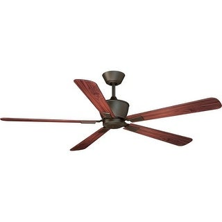 """Vaxcel Lighting F0014 Geneva 52"""" 5 Blade DC Motor Indoor Ceiling Fan - Remote Control and Blades Included - Oil Rubbed Bronze"""