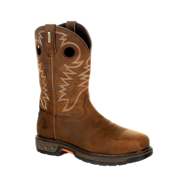 Georgia Boots Work Mens Carbo-Tec Square Waterproof Brown