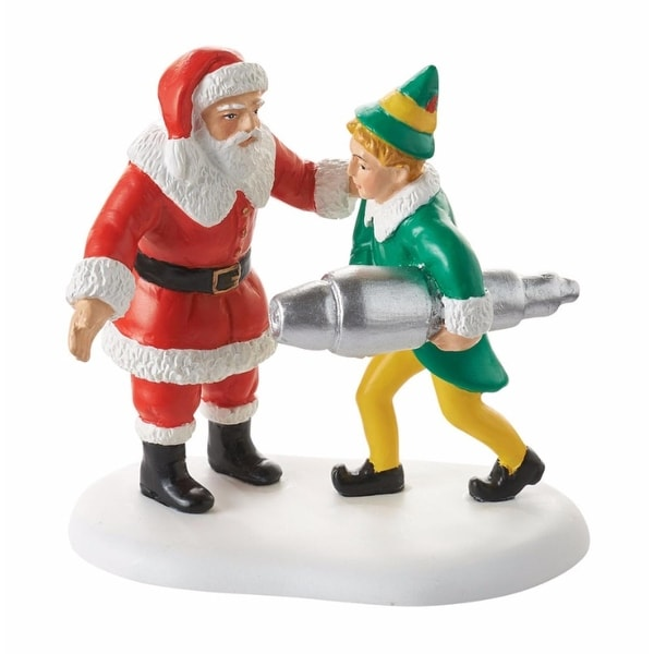 """Department 56 Elf The Movie """"Buddy Salvages The Kringle 3000"""" Christmas Figurine #4053410 - green"""
