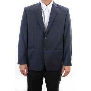 Lauren Ralph Lauren Navy Plaid Long Jacket 48L