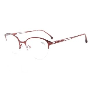 Eyekepper Quality Spring Hinges Half-Rim Cat-eye Style Reading Glasses Red +4.00