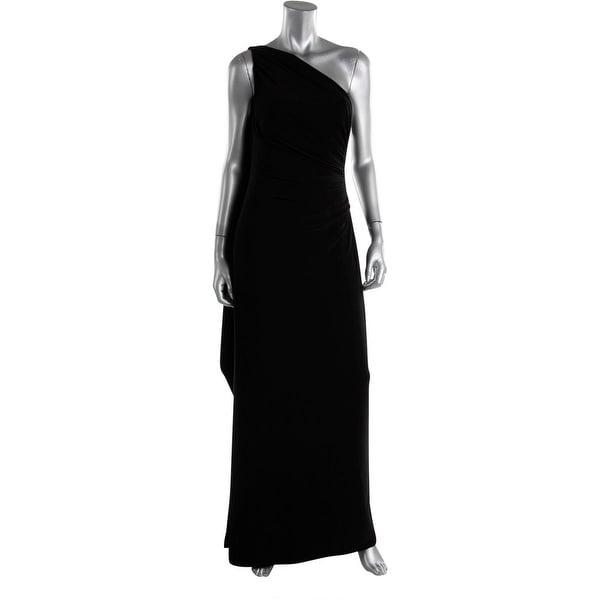 Lauren Ralph Lauren Womens Evening Dress Matte Jersey Side Slit