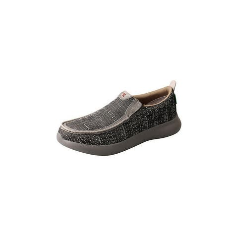 Twisted X Casual Shoes Mens Slip On Two Tone Black White - Black White