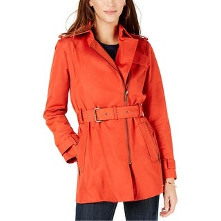 Link to Michael Kors Womens Zip Front Trench Coat Similar Items in Women's Outerwear