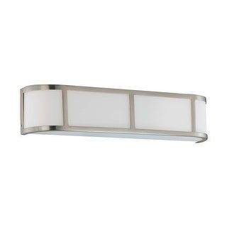 """Nuvo Lighting 60/2873 Three Light Ambient Lighting 23.875"""" Wide Bathroom Fixture from the Odeon Collection - Brushed Nickel"""