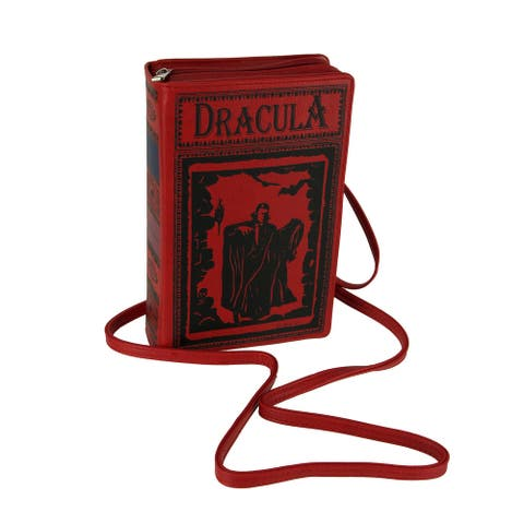 Book of Dracula Vinyl Handbag Novelty Clutch Purse Crossbody Bag