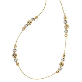 Italian 14k Two-Tone Gold Fancy Necklace - 27 inches