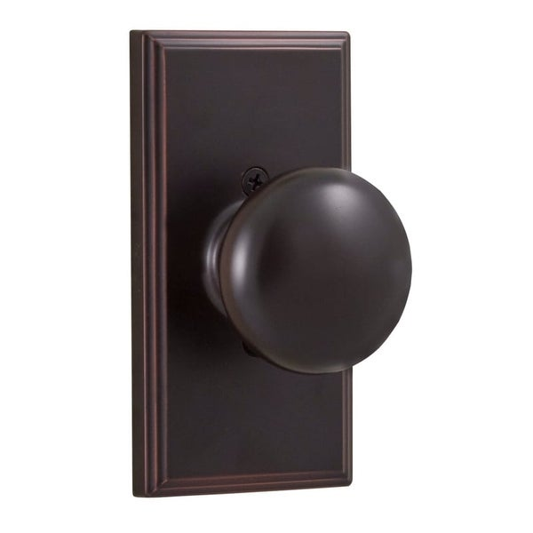 Weslock 3705I Impresa Single Dummy Door Knob with Woodward Rose from the Elegance Collection