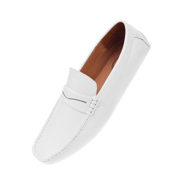 91e71f318d7 Shop Amali Mens Classic Textured Smooth Penny Loafer Driving Slip On - Free  Shipping On Orders Over  45 - Overstock - 25659395