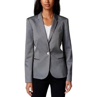 Calvin Klein Womens Petites One-Button Blazer Lined Non-Vented - 2p