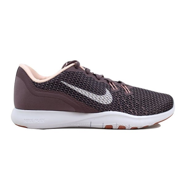 3185d9c1eb23 ... Women s Athletic Shoes. Nike Women  x27 s Flex Trainer 7 Bionic Taupe  Grey Metallic Silver 917713