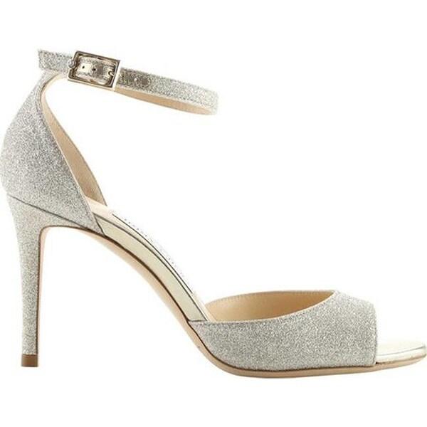 817030115663 Shop Jimmy Choo Women s Annie 85 Glitter Ankle-Strap Sandal Platinum ...