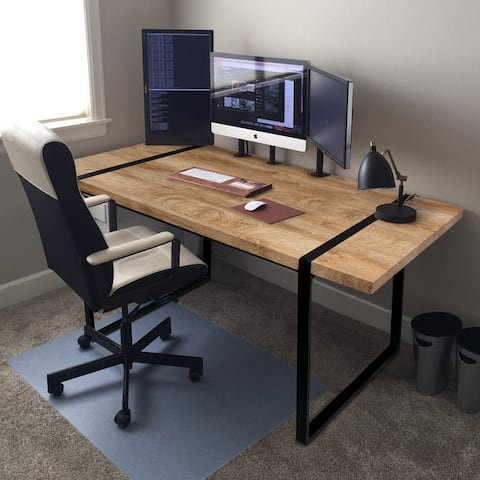 Modern Rectangle Office Writing Desk Wood Computer Desk