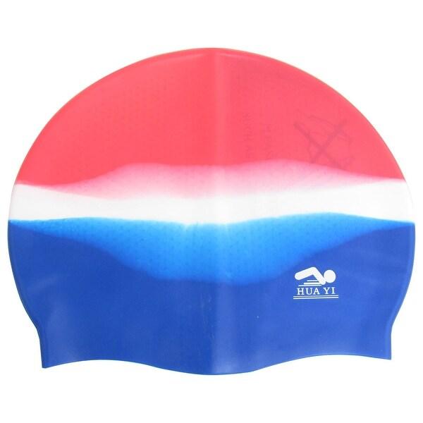 bd6b6fb2c0f Unique Bargains Unique Bargains Silicone Elastic Waterproof Hair Ear  Protective Hat Swimming Cap for Men Women