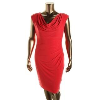 Lauren Ralph Lauren Womens Matte Jersey Cap Sleeve Wear to Work Dress - 16