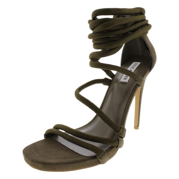 50e99b9981e Shop Steve Madden Womens Drama Dress Sandals Nubuck Ankle Wrap ...