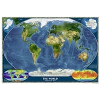 National Geographic RE00622004 Satellite World Map