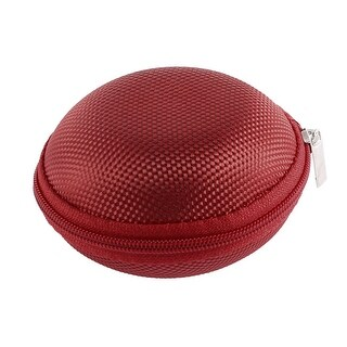 Earphone Headset Mini Hard Carry Storage Pouch Bag Case Holder Red