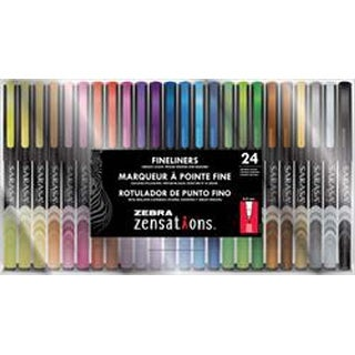 Assorted - Zebra Zensations Fineliner Pens 24/Pkg 0.8Mm