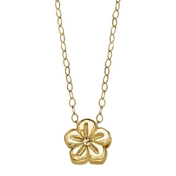 Eternity Gold Teeny-Tiny Flower Pendant in 10K Gold