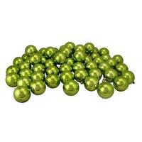 "60ct Kiwi Green Shatterproof Shiny Christmas Ball Ornaments 2.5"" (60mm)"