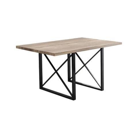 """Offex Dining Table - 36"""" x 60"""" Dark Taupe/Black Metal - Not Available"""