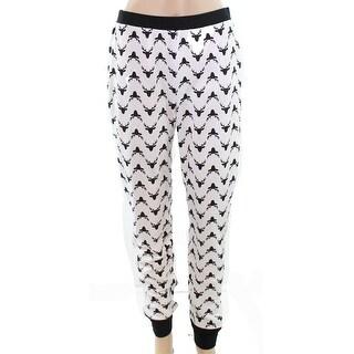 Jenni by Jenni Moore NEW White Womens Size Small S Thermal Sleep Pants