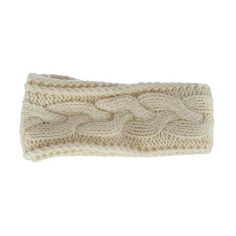 David & Young Women's Cable Knit Headwrap with Lining - one size