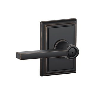 Schlage F40-LAT-ADD  Latitude Privacy Door Lever Set with Decorative Addison Trim