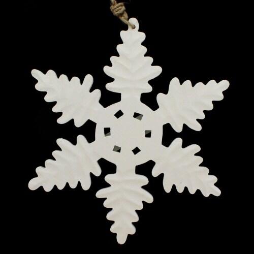 White Wood Snowflake