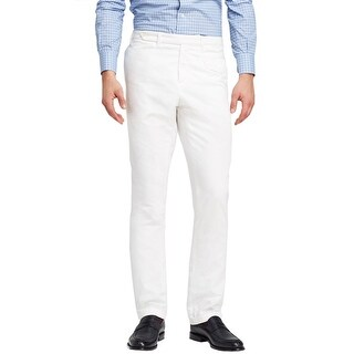 Eidos Napoli By Isaia Cambio Chino Pants Bright White Cotton Made In Italy