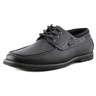 Madden Men Jester Men Moc Toe Leather Black Boat Shoe