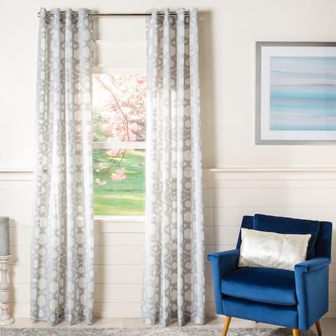 Safavieh Brenna Semi-Sheer Window Curtain Panel