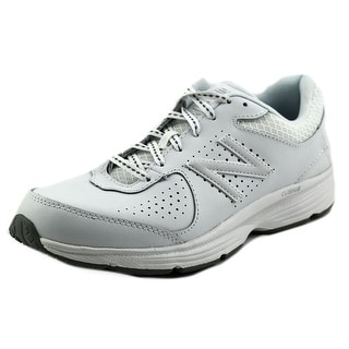 New Balance WW411 Women Round Toe Leather White Walking Shoe