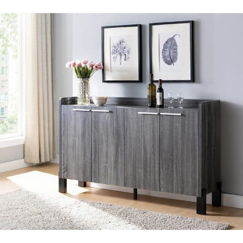 "Q-Max 62""W Sideboard Buffet Credenza Table with Two Storage Cabinet"