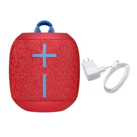 Ultimate Ears Wonderboom2 Waterproof Bluetooth Speaker Red w/ Charger