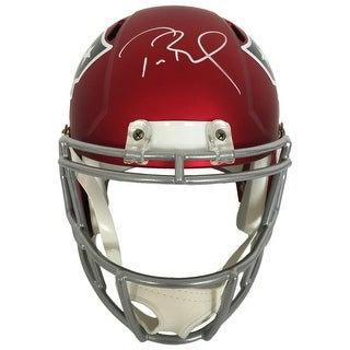 Tom Brady Signed NE Patriots FS Blaze Speed Replica Helmet Tristar+Steiner