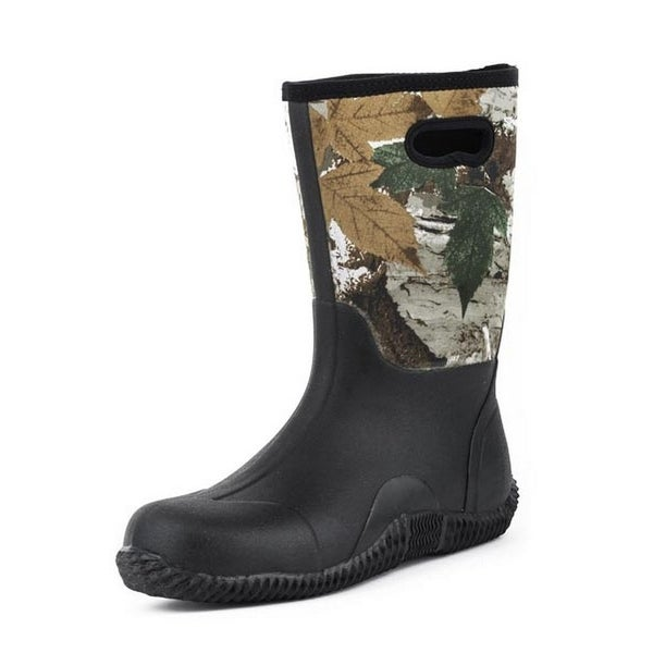 Roper Outdoor Boots Mens Camo Waterproof Black