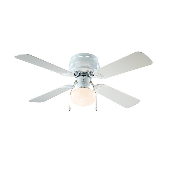 "Boston Harbor CF-78126 Hugger Ceiling Fan, 42"", White"