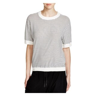 DKNY Womens Blouse Cotton Striped