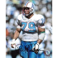 Ray Childress signed Houston Oilers 8x10 Photo white jersey