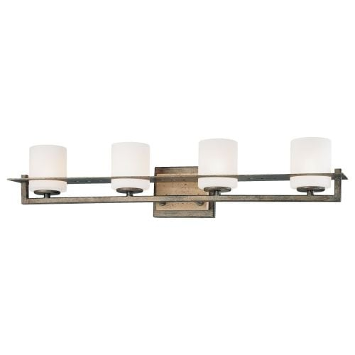 Minka Lavery 6464 4 Light 27 Width Bathroom Vanity Light from the Compositions Collection