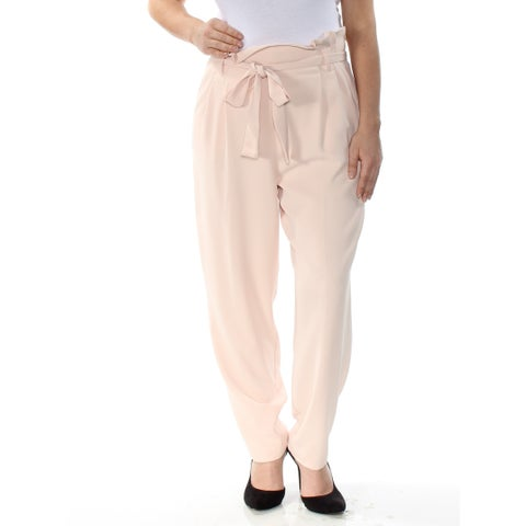 RACHEL ROY Womens Pink Tapered Trousers Straight leg Wear To Work Pants Size: 8