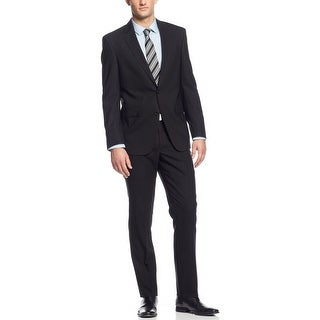 Kenneth Cole New York Suit 46 Regular 46R Black Bone Slim Fit Pants 40W