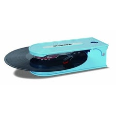 SYLVANIA CURSTT008USBBLB Turntable Record Player with USB Encoding, Blue