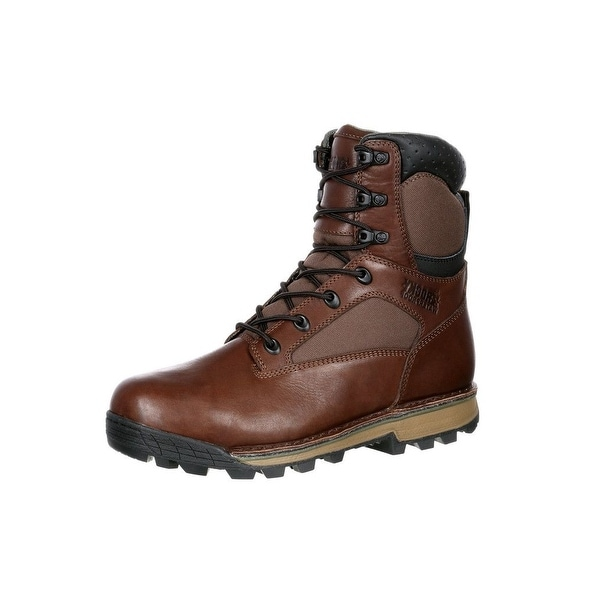 Rocky Outdoor Boots Mens Traditions Waterproof Insulated Brown